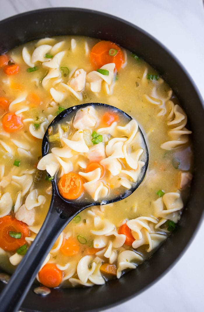 Easy Homemade Chicken Noodle Soup One Pot One Pot Recipes