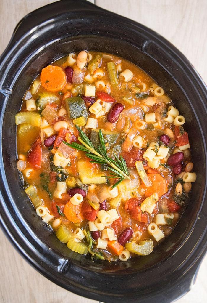 Slow Cooker Minestrone Soup One Pot Recipes