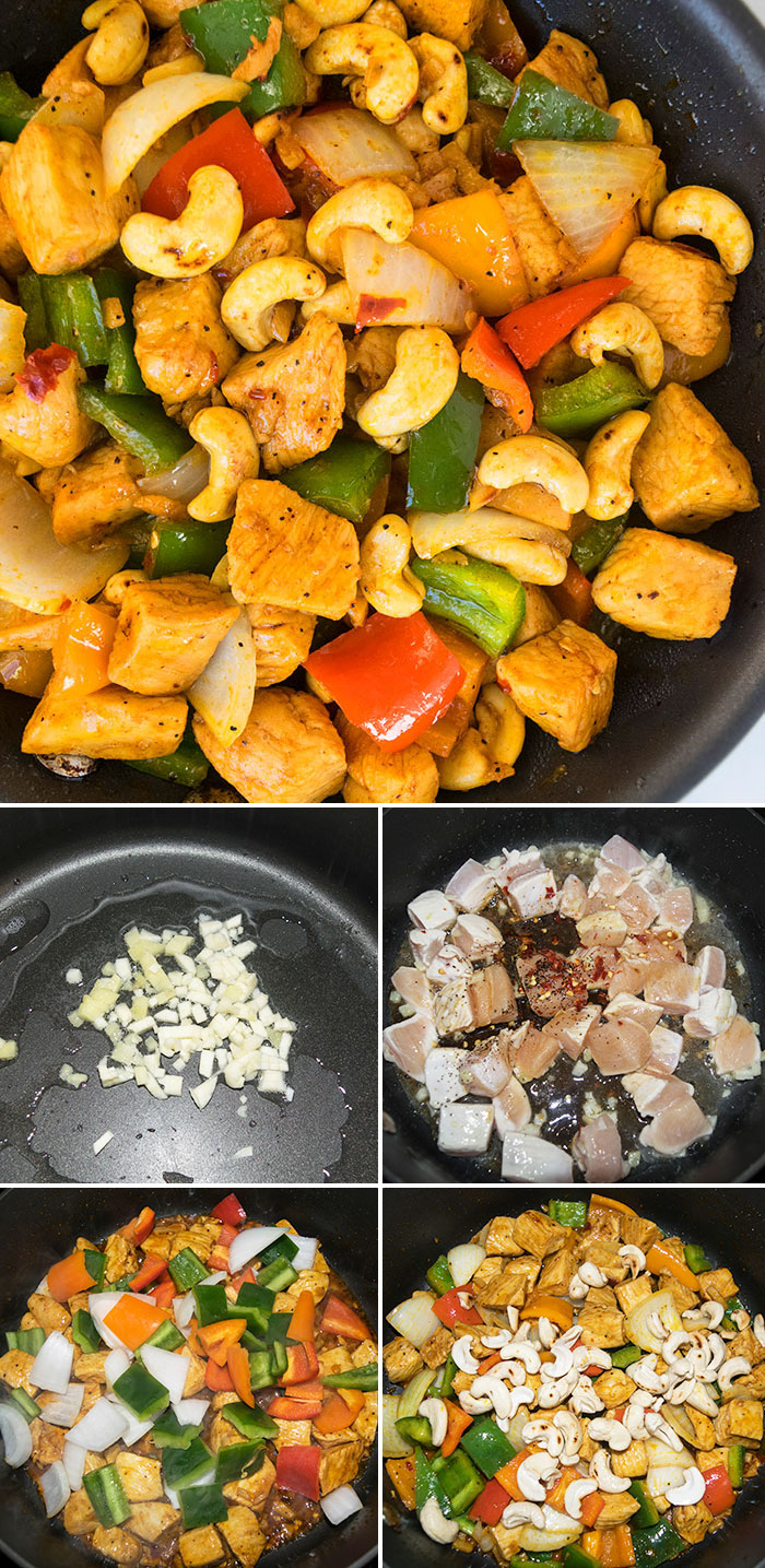 Cashew Chicken Recipe- Step by Step Process