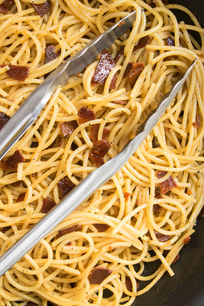 Bacon Pasta {Quick & Easy} - OnePotRecipes