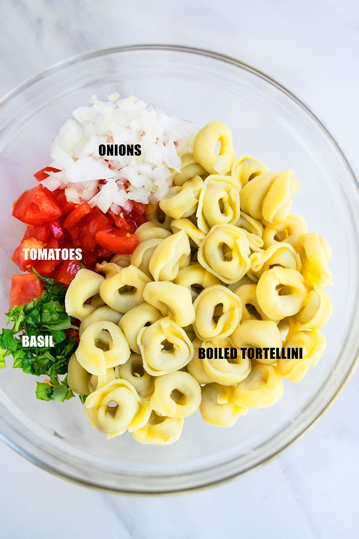 Italian Tortellini Salad Ingredients