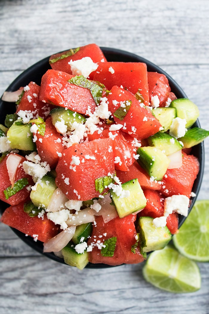 Watermelon Mint Salad Recipe