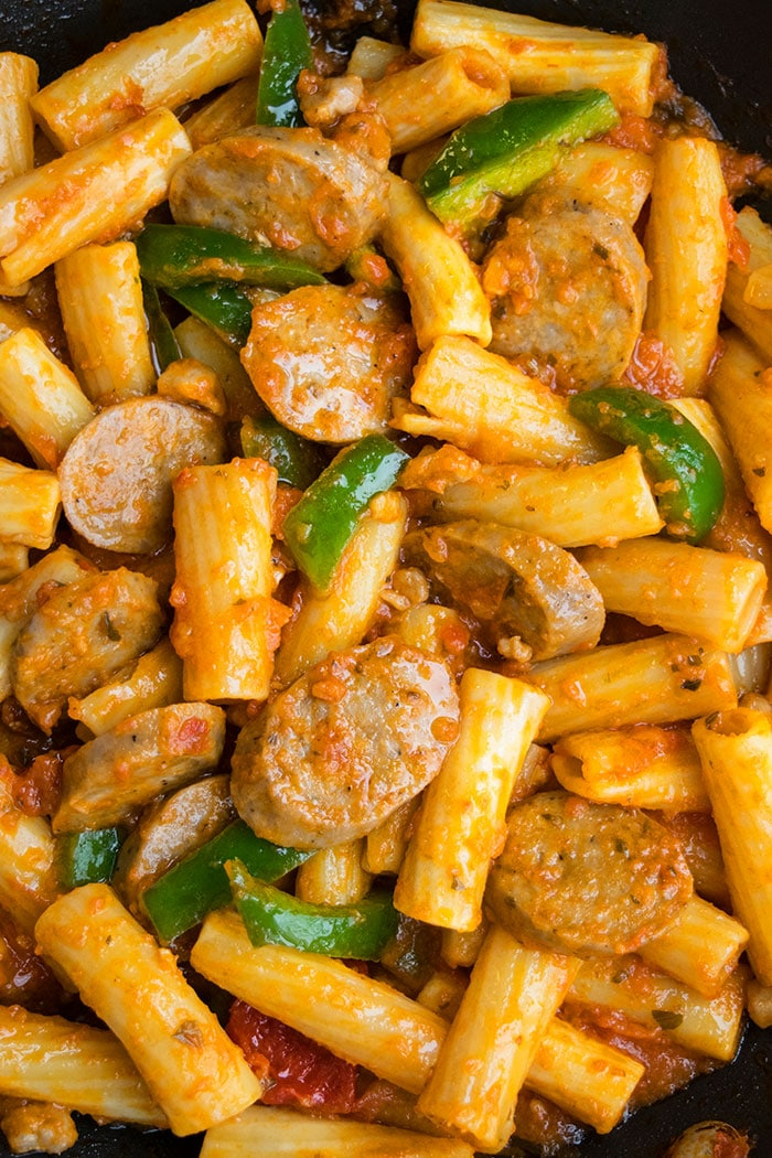 Spicy Sausage Pasta Recipe (One Pot)