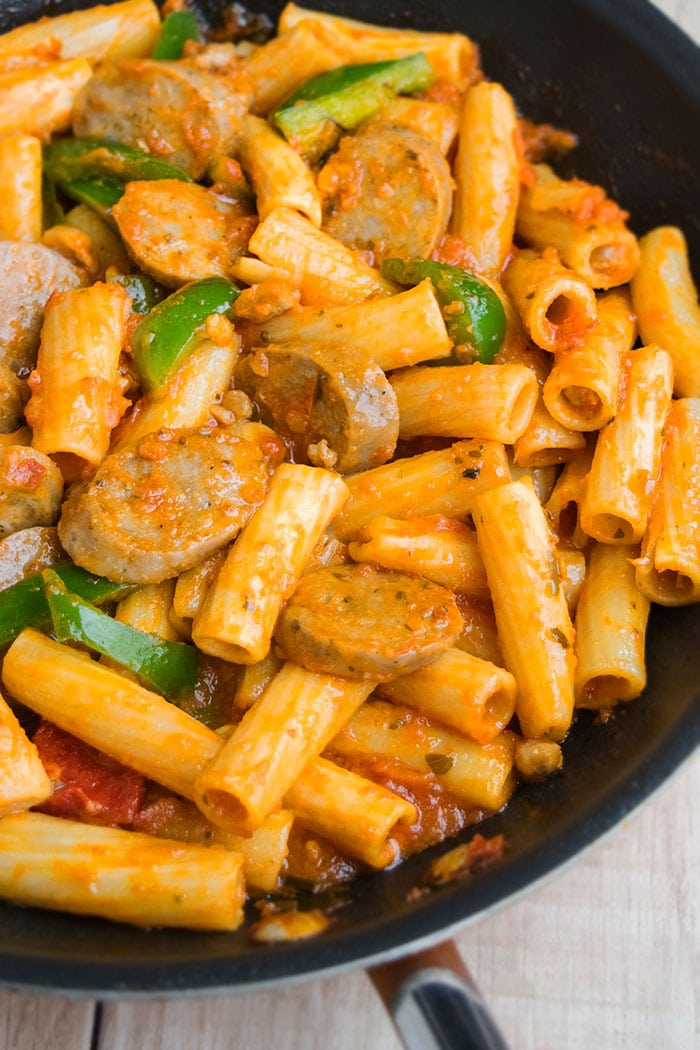 One Pot Sausage and Peppers Pasta Recipe