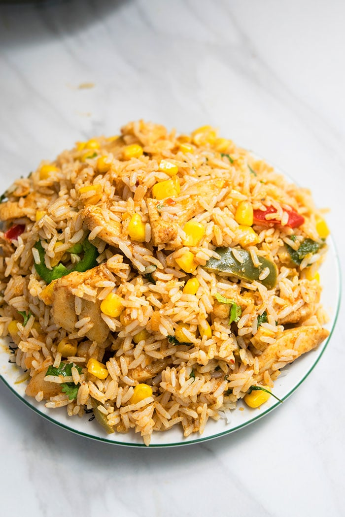 Healthy Chicken and Rice Recipe (1 Pot, 30 Minutes)