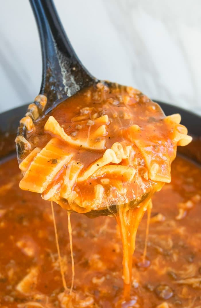 Quick One Pot Lasagna Soup Recipe