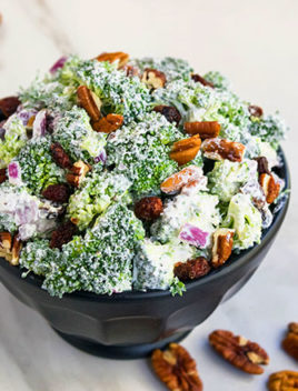 Easy Broccoli Salad Recipe with Cranberries and Pecans