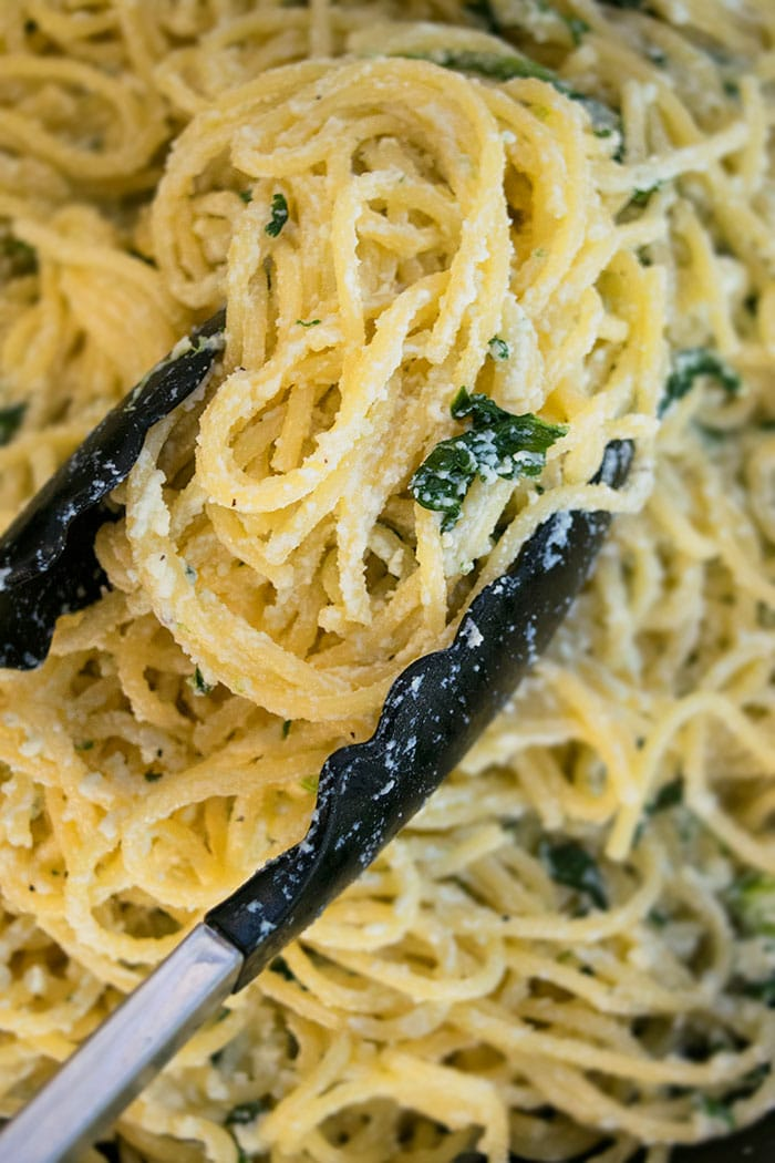 Creamy Spinach Pasta Recipe with Ricotta Cheese