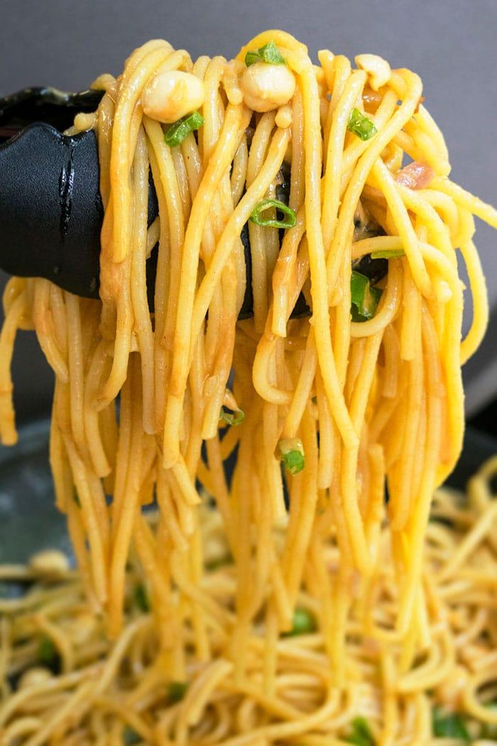 Peanut Sauce Noodles (One Pot Recipe)