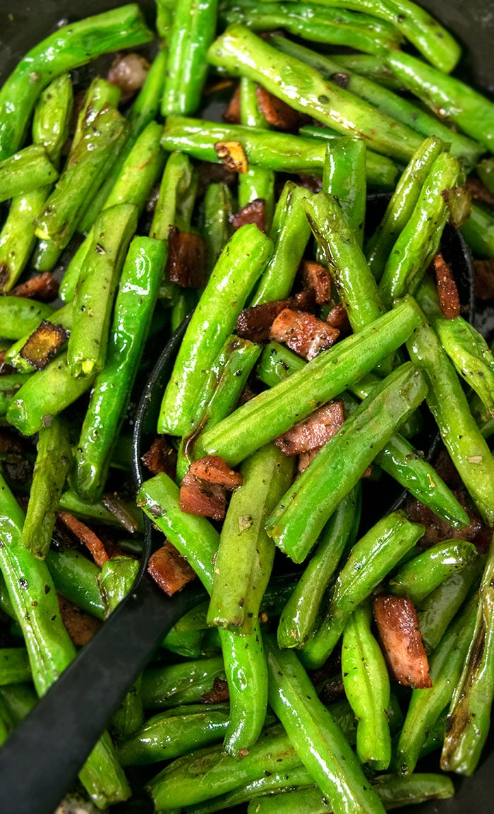 Green Beans and Bacon (One Pot Recipe)