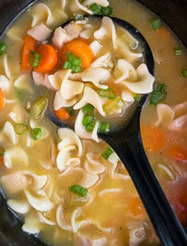 Easy Crockpot Chicken Noodle Soup Recipe