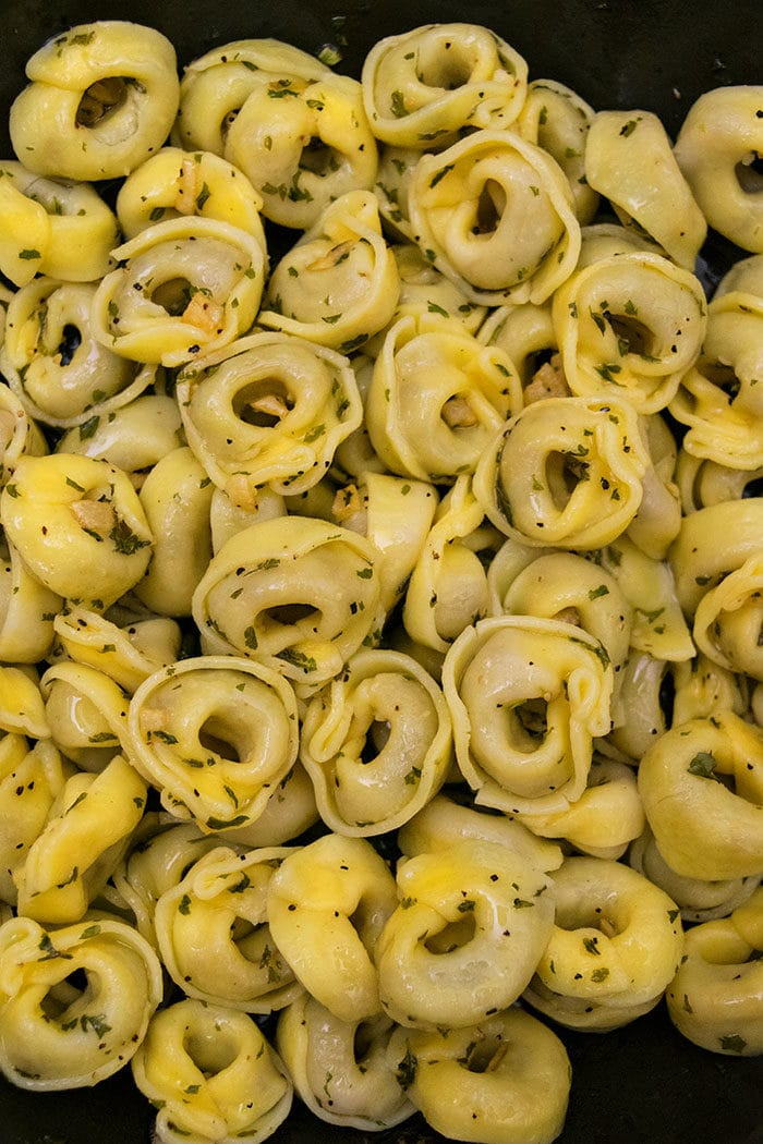 Easy Three Cheese Tortellini with Garlic Butter Sauce (One Pot)