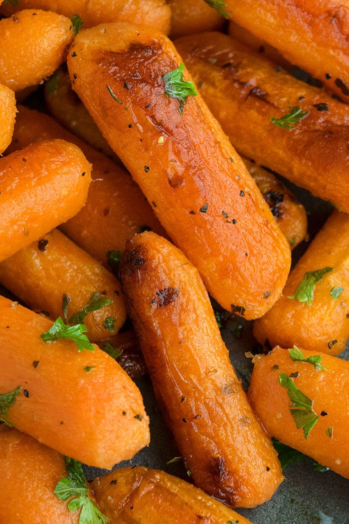 One Pan Roasted Baby Carrots Recipe