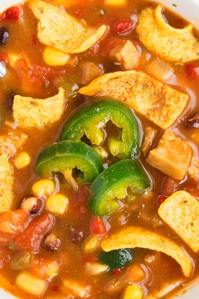 Mexican Healthy Chicken Tortilla Soup Recipe