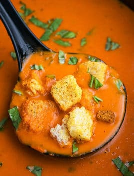 One Pot Roasted Red Pepper Soup Recipe