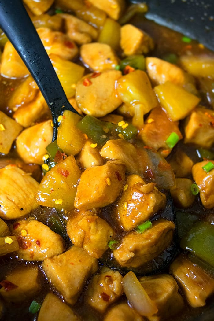 One Pot Sweet and Spicy Chicken Recipe