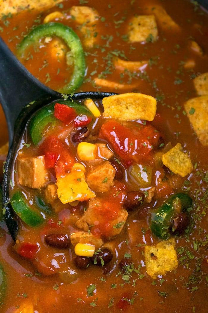 Easy Instant Pot Chicken Enchilada Soup Recipe