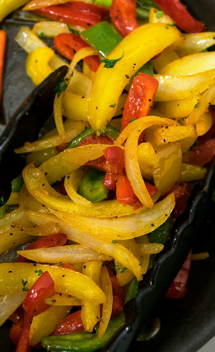 Easy One Pan Fajita Vegetables Recipe