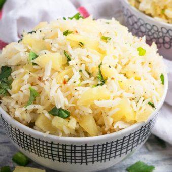 Easy Pineapple Rice Recipe (One Pot)