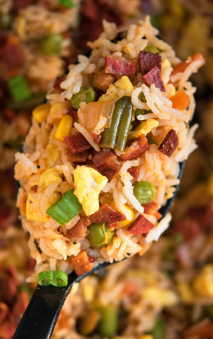 Bacon Egg Fried Rice Recipe (30 Minute Meal)