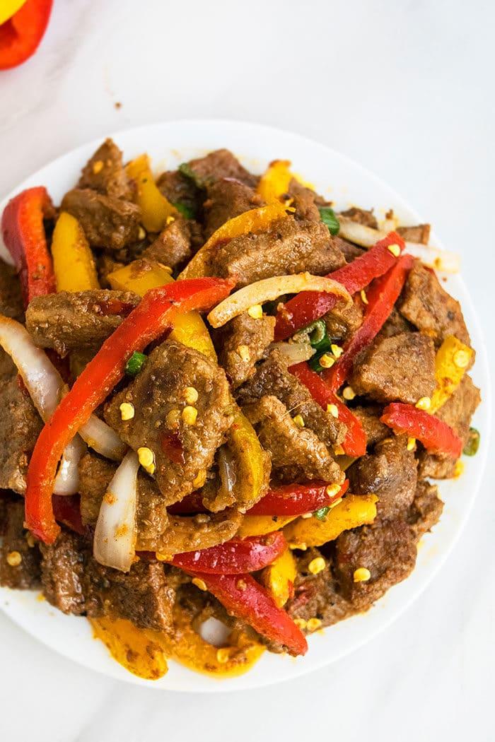 Chinese Pepper Steak Stir Fry Recipe