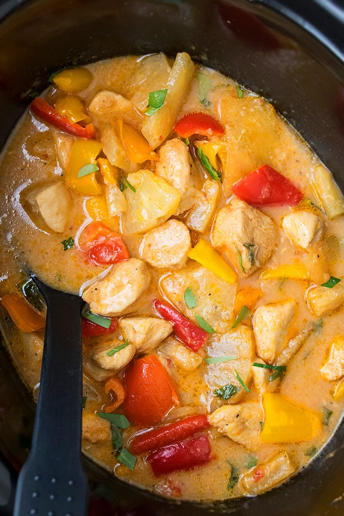 Crockpot Pineapple Chicken One Pot Recipes
