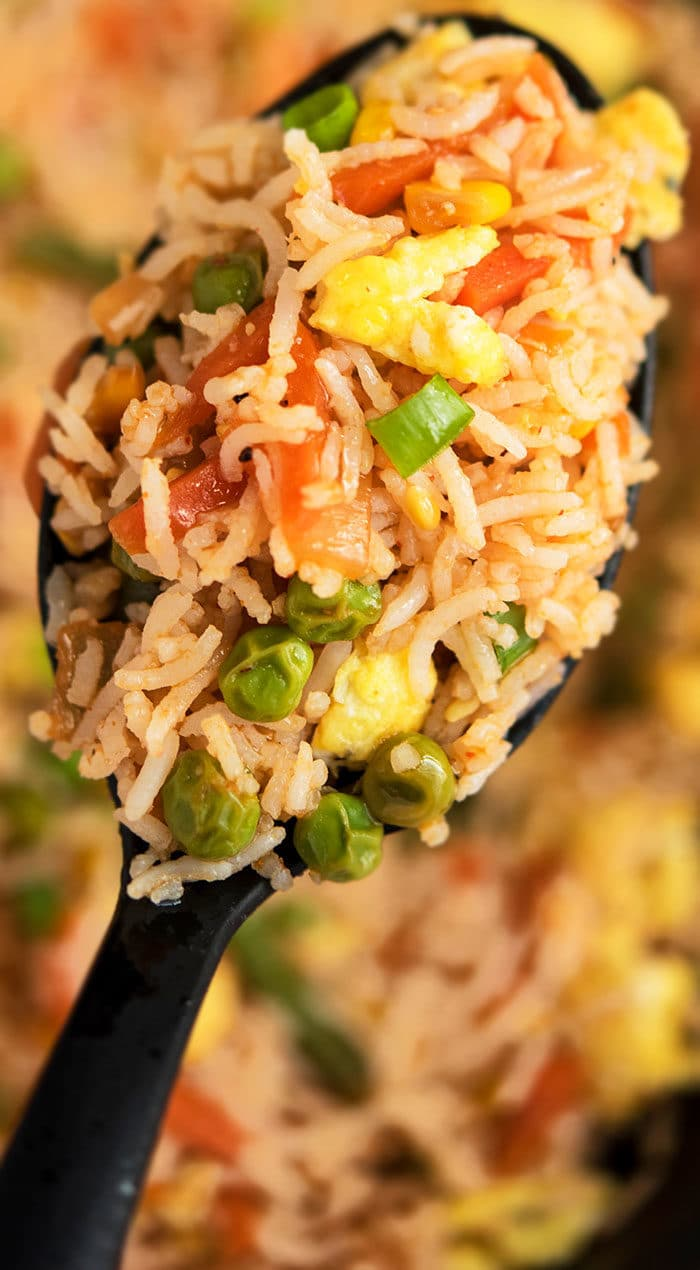 Chinese Vegetable Stir Fry Rice Recipe