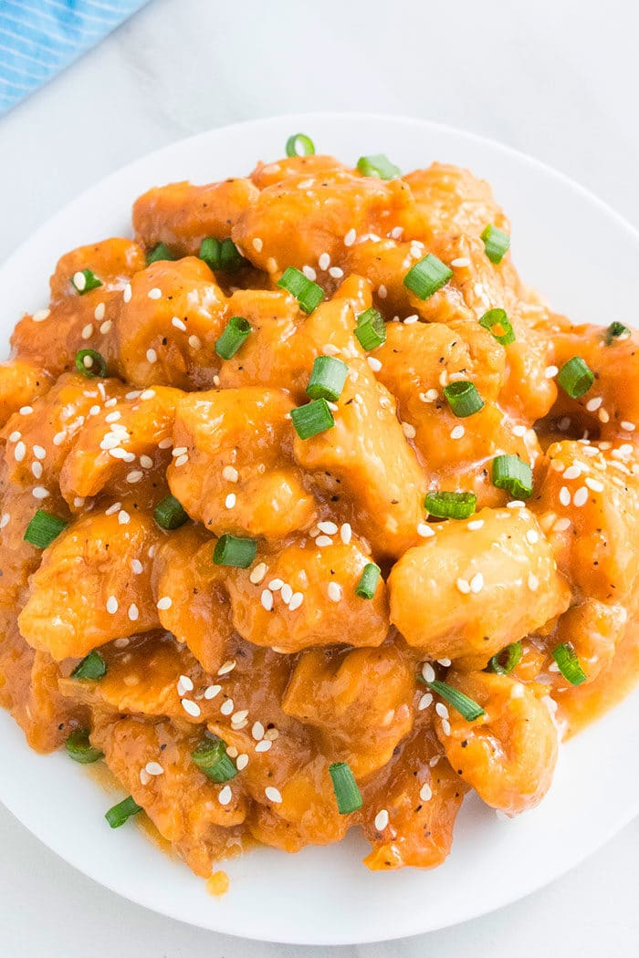 Easy Chinese Orange Chicken (Crockpot)