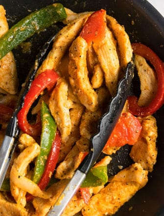 Easy Chicken Fajitas Recipe (One Pot Meal)