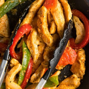 Easy Chicken Fajitas Recipe (One Pot Meal)