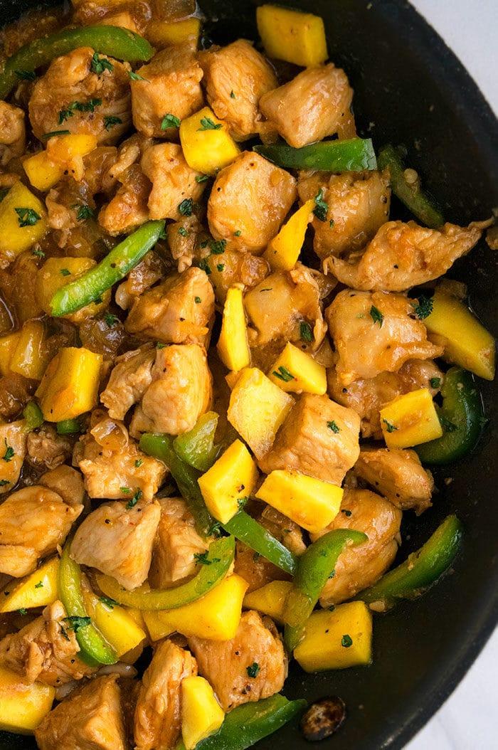 Mango Chicken Recipe (One Pot Meal)