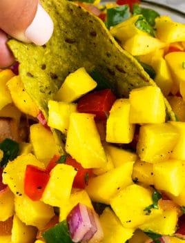Easy Mango Salsa Recipe (One Pot Appetizer)