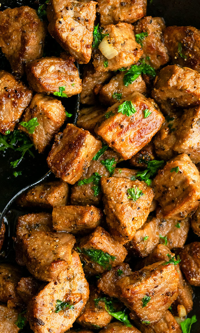 Easy Garlic Butter Steak Bites Recipe