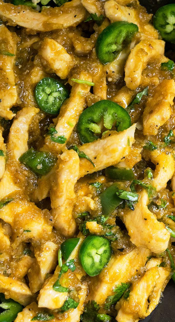 Salsa Verde Chicken (Crockpot, Instant Pot, Stovetop)