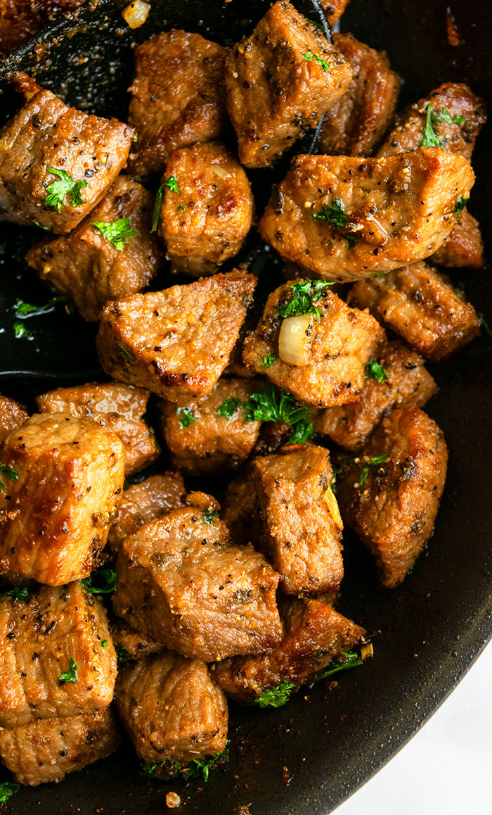 Garlic Butter Steak Bites One Pot One Pot Recipes