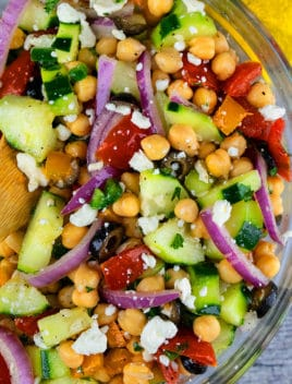 Easy Mediterranean Chickpea Salad Recipe