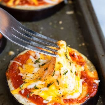 Easy Eggplant Pizza Recipe (One Pan Meal)