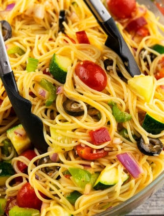 Easy Italian Spaghetti Salad Recipe