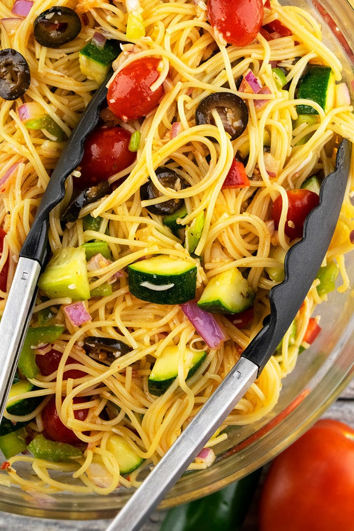 Italian Spaghetti Pasta Salad Recipe