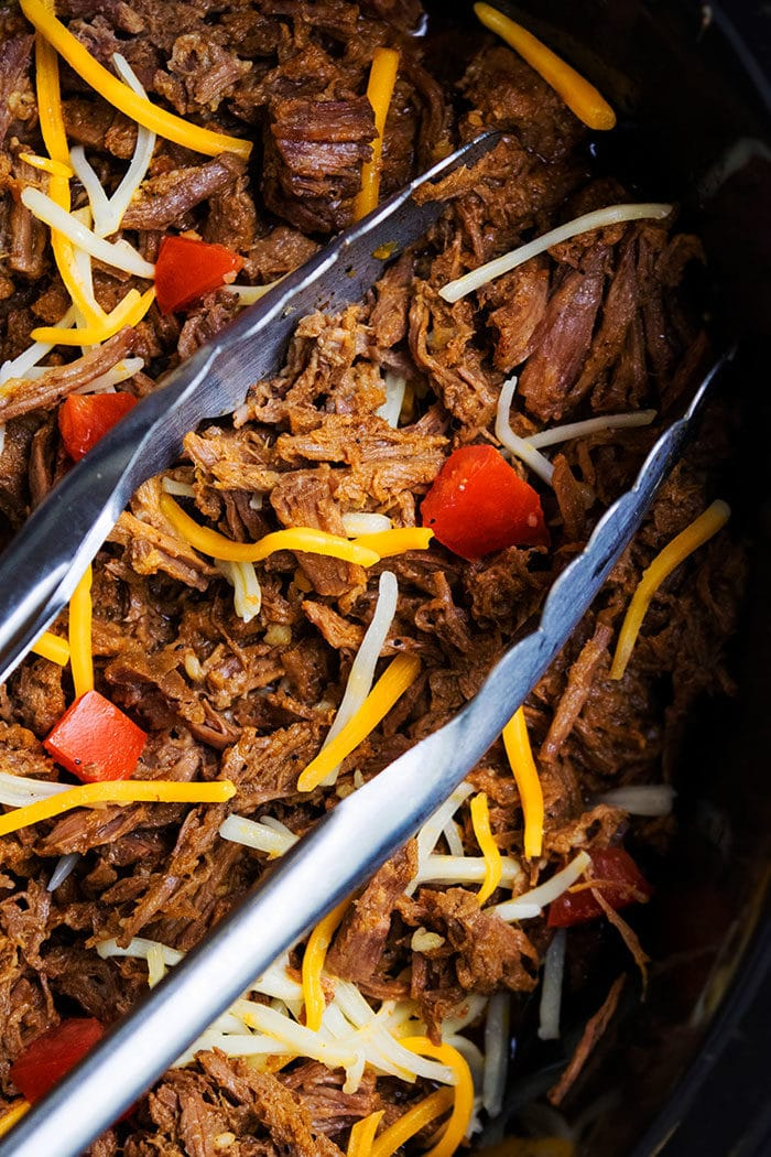 Crockpot Chipotle Barbacoa Meat