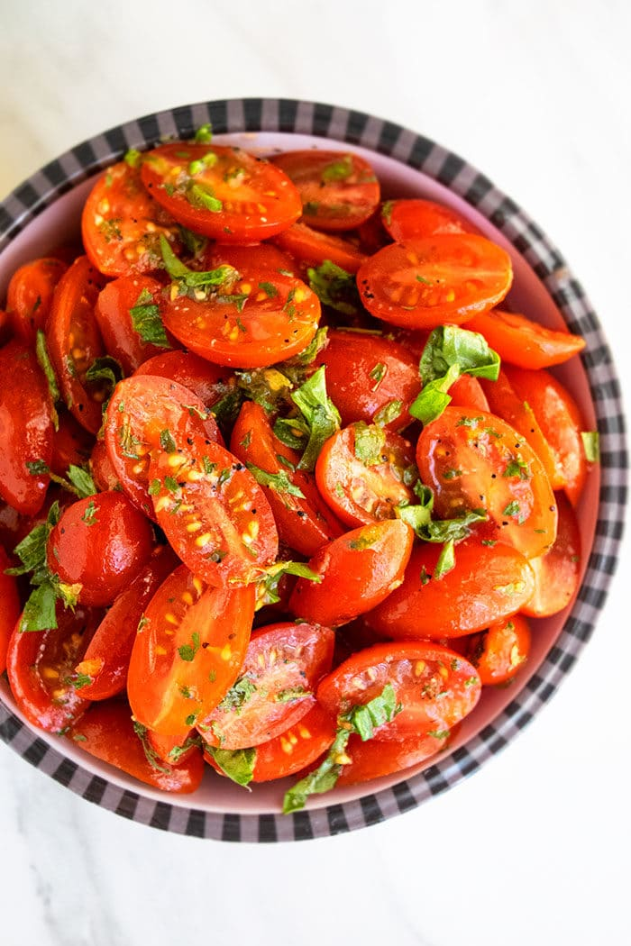 Marinated Cherry Tomatoes and Onions