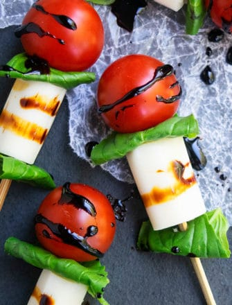 Easy Mini Caprese Skewers Recipe