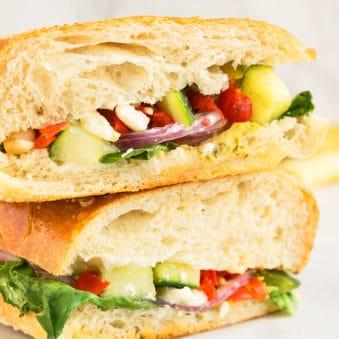 Mediterranean Veggie Sandwich Recipe