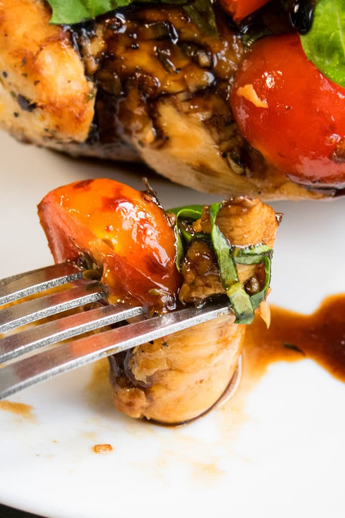 Bite of Balsamic Bruschetta Chicken