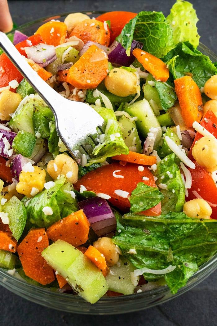 Easy Chopped Salad with Italian Vinaigrette