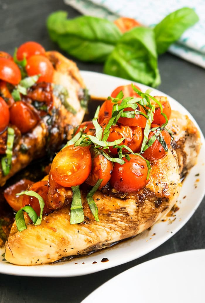 Italian Chicken With Balsamic Glaze and Bruschetta
