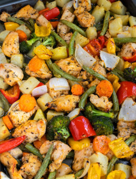Oven Roasted Chicken and Vegetables Recipe