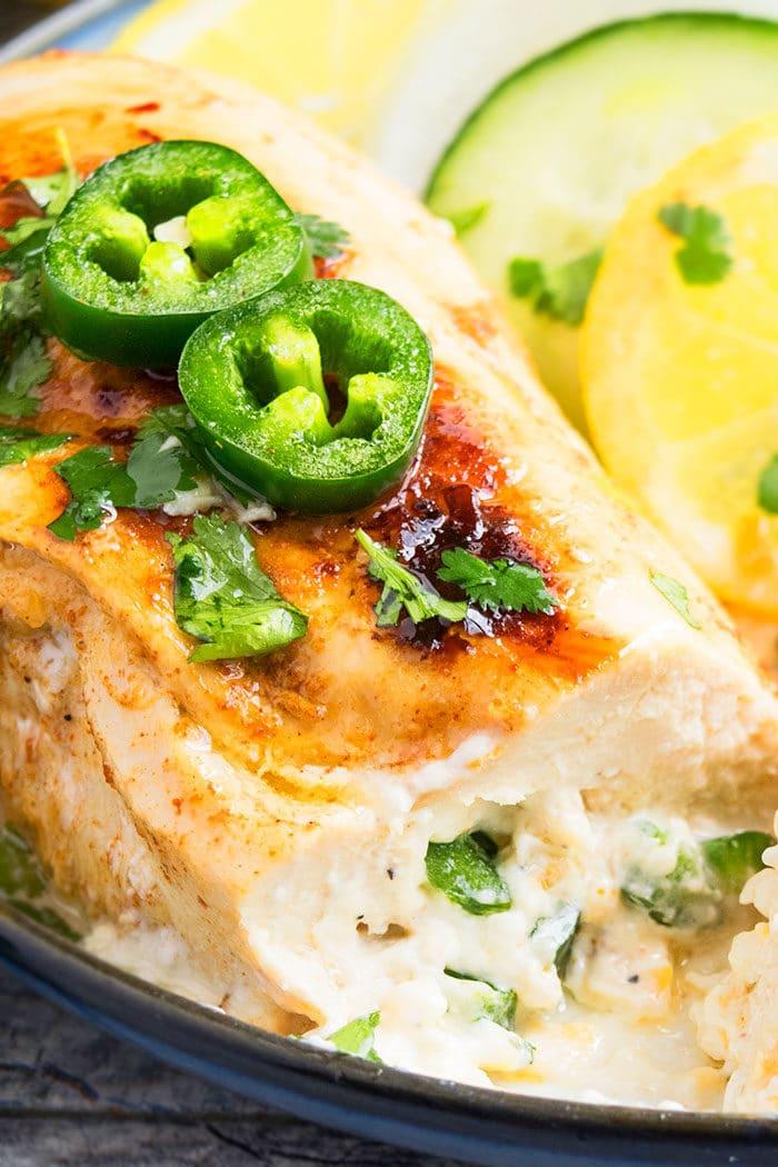 Easy Jalapeno Popper Stuffed Chicken Recipe
