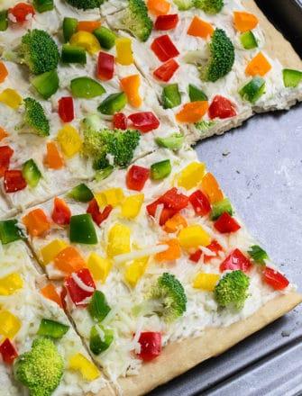 Crescent Roll Veggie Pizza Recipe