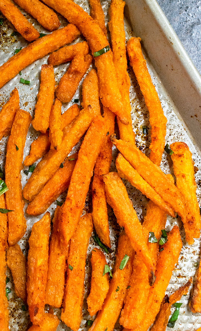 Baked Sweet Potato Fries One Pan One Pot Recipes